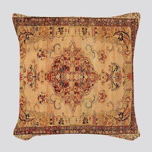 Antique Kerman flowered Patter Woven Throw Pillow